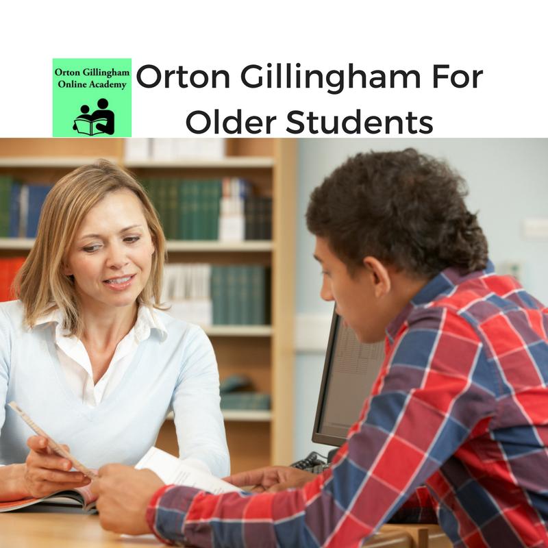 Orton Gillingham For Older Students