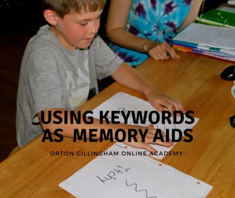 Using keywords as memory aids