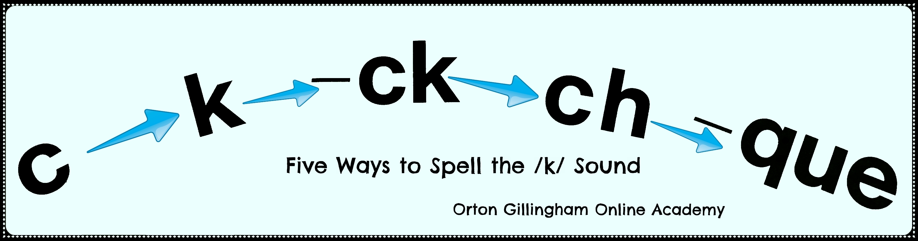 Five Spellings For The K Sound Orton Gillingham Online Academy