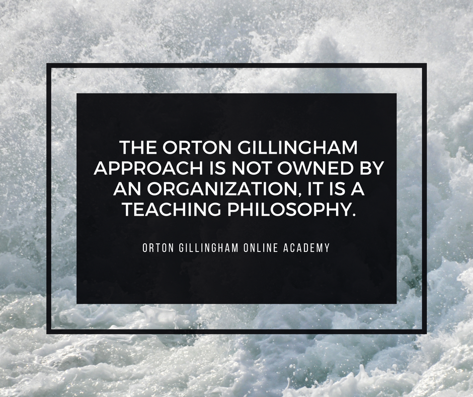 Who Owns the Orton Gillingham Approach?