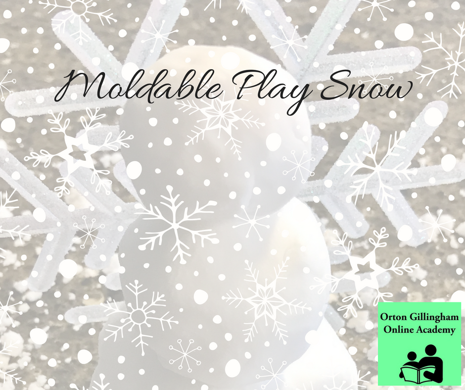 Moldable Play Snow