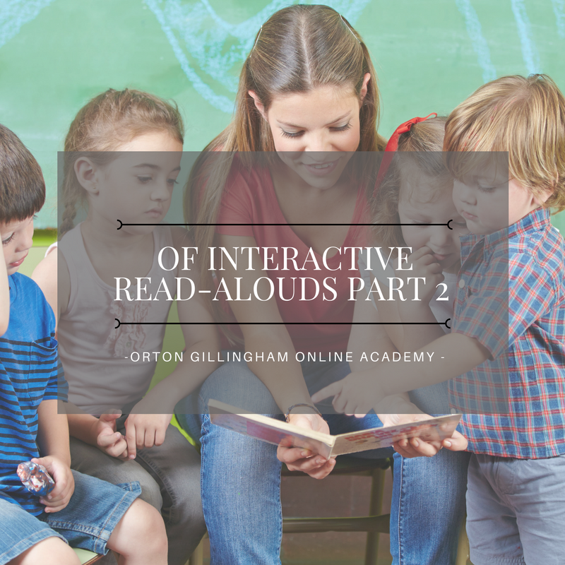 Interactive Read Alouds Part 2