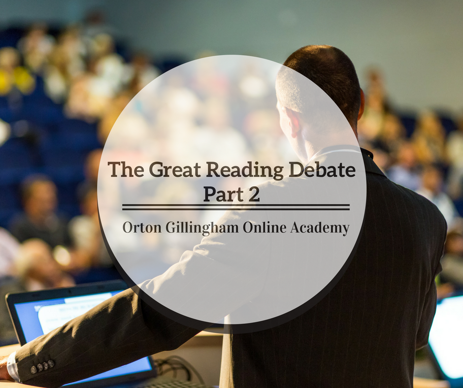 The Great Reading Debate Part 2