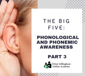 THE BIG FIVE PHONOLOGICAL AND PHONEMIC AWARENESS PART 3