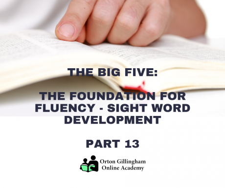 The Foundation for Fluency: Sight Word Development